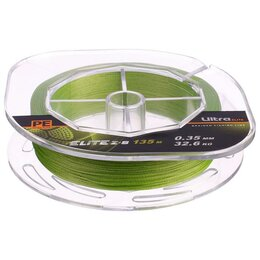 Леска и шнуры - Леска плетёная Aqua Pe Ultra Elite Z-8, d=0,35 мм, 135 м, нагрузка 32,6 кг, 0