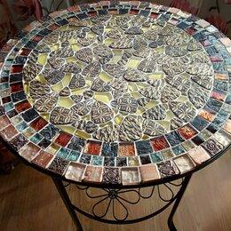 Столы и столики - Мозаичный круглый столик, 0