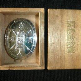 Жетоны, медали и значки - Япония Знак пожарному за заслуги Префектура Ниигата Родная коробка, 0