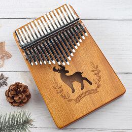 Щипковые инструменты - Музыкальный инструмент калимба с оленем, 0