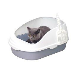 Туалеты и аксессуары  - Лоток для кошек Xiaomi Semi-open Cat Litter, белый, 0