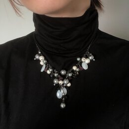 Колье и бусы - Колье ожерелье из бусин бижутерия бусы, 0