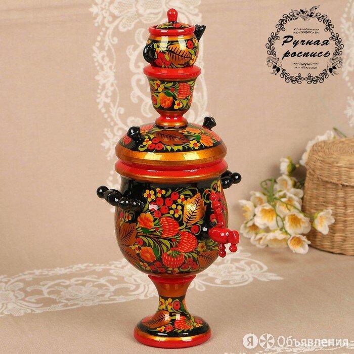 Сувенир 'Самовар', хохлома по цене 3810₽ - Декоративная посуда, фото 0