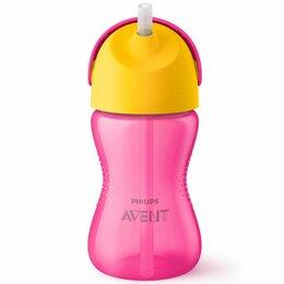 Толстовки - Avent Чашка с трубочкой для девочки (6) 300мл 9+, 0