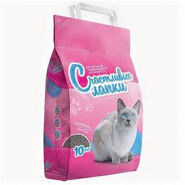 Наполнители для туалетов - Наполнитель Счастливые лапки д/кошачьего туалета комкующийся 10кг. , 0