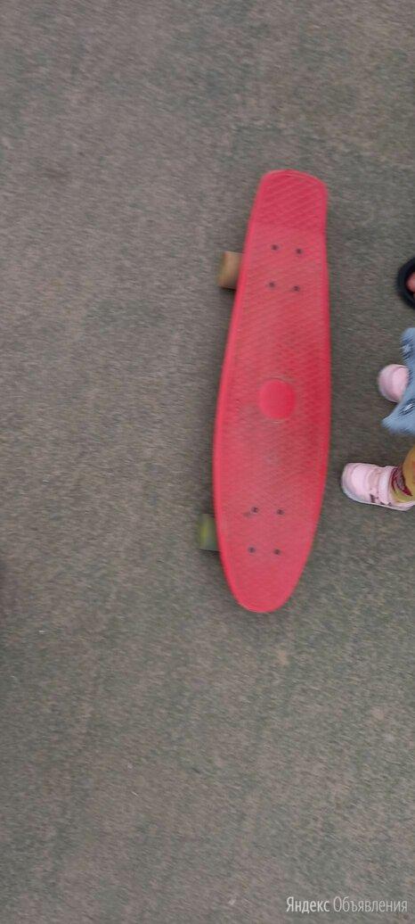 Пенни борд малиновый по цене 500₽ - Скейтборды и лонгборды, фото 0