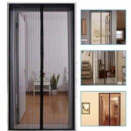 Сетки и решетки - Сетка москитная для дверей на магнитах, с крепежом, черная, 0