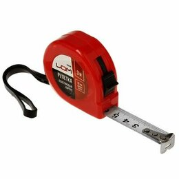 Измерительные инструменты и приборы - Рулетка 3м, пластиковый корпус, 0