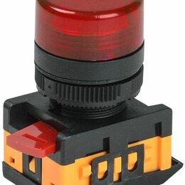 Лампочки - Лампа сигнальная AL-22TE d22мм неон/240В цилиндр красный ИЭК, 0
