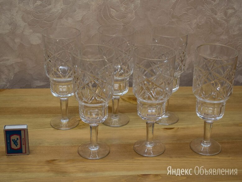 Хрустальные бокалы, СССР по цене 1500₽ - Бокалы и стаканы, фото 0