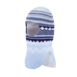 Головные уборы - Зимняя шапка-шлем для мальчика Satila Snorky (голубой), 0