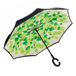 Зонты и трости - Зонт с обратным открыванием (зонт наоборот), кленовые листья, 0