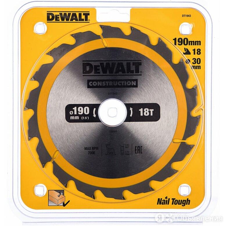 Пильный диск Dewalt DT1943 CONSTRUCT по цене 789₽ - Для шлифовальных машин, фото 0