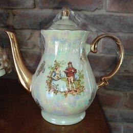 Заварочные чайники - Фарфоровый чайник с позолотой lindner гдр, 0