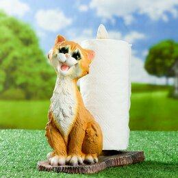 Туалетная бумага и полотенца - Подставка для бумажного полотенца 'Кот' 30х15х25см, 0