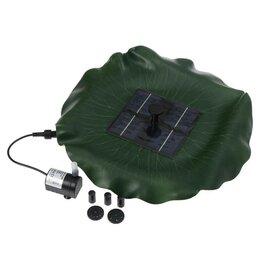 Насосы и комплекты для фонтанов - Фонтан плавающий «Лотос», d = 30 см, на солнечной батарее, 0