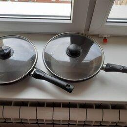 Сковороды и сотейники - Сковородки с крышками, диаметр 26 см. и 28 см., 0