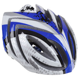 Шлемы - Шлем велосипедиста взрослый T23, размер 52-60 см, цвет синий/белый, 0