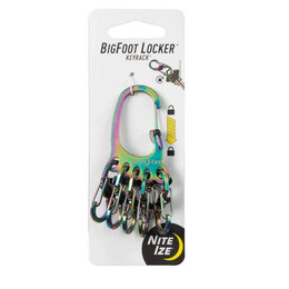 Настольные игры - Брелок для ключей NITELZE BigFoot Locker KeyRack Spectrum, 0