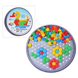 Мозаика - Мозаика шестигранная, 85 элементов (круглая пласт.коробка), 0