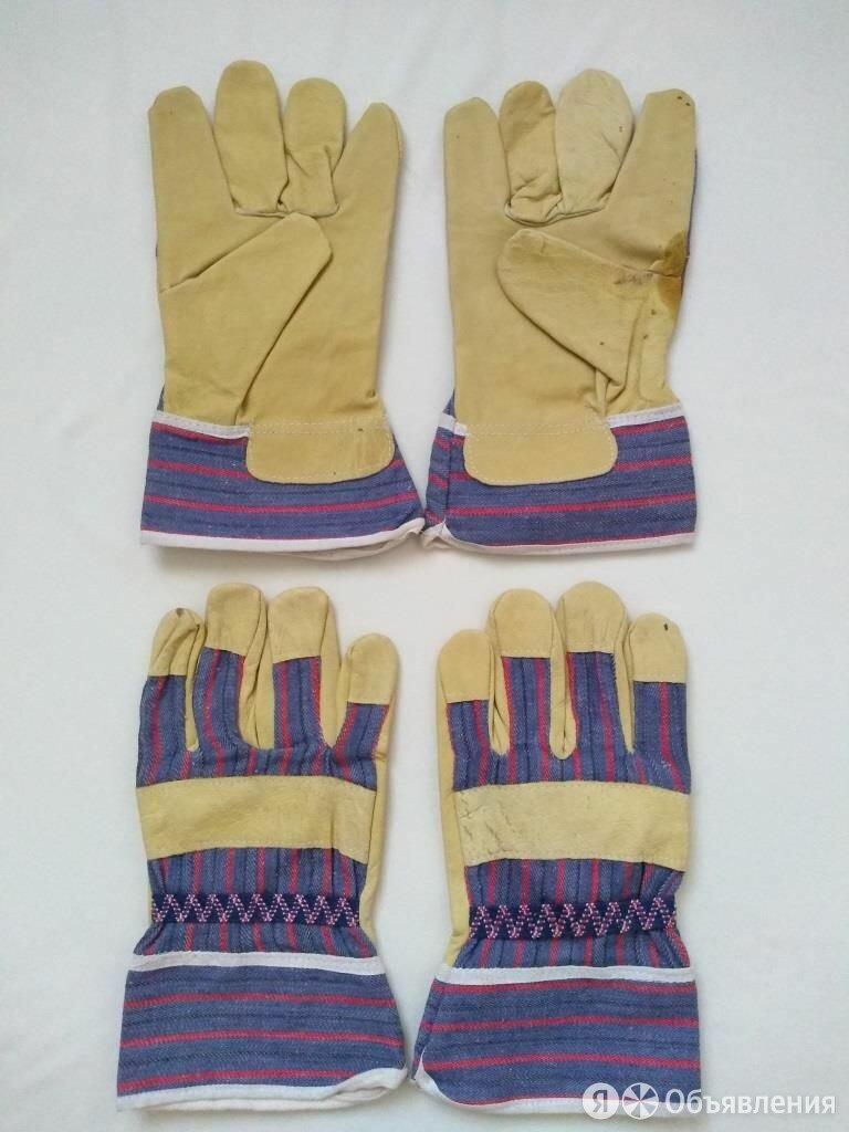 Спилковые комбинированные перчатки по цене 150₽ - Средства индивидуальной защиты, фото 0