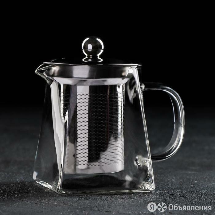 Чайник заварочный Magistro 'Дарси', 300 мл, 13x7,5x11 см, с металлическим ситом по цене 911₽ - Заварочные чайники, фото 0