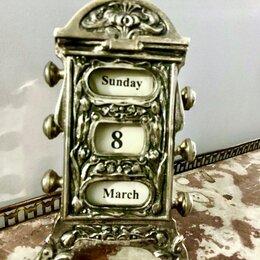 Интерьер - Арнуво. Календарь настольный , антикварный, серебрение , 0