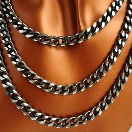 Цепи - Цепи серебро панцирные, оксидированные, от 70 гр , 0
