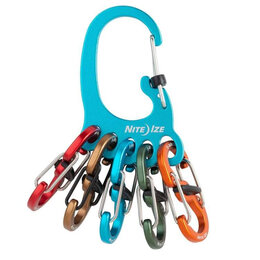 Настольные игры - Брелок для ключей NITELZE BigFoot Locker KeyRack Aluminum(голубой), 0
