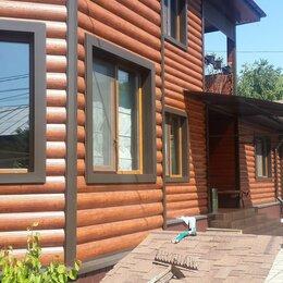 Сайдинг - Сайдинг металлический Блок Хаус - Бревно цвет имитация дерева, 0