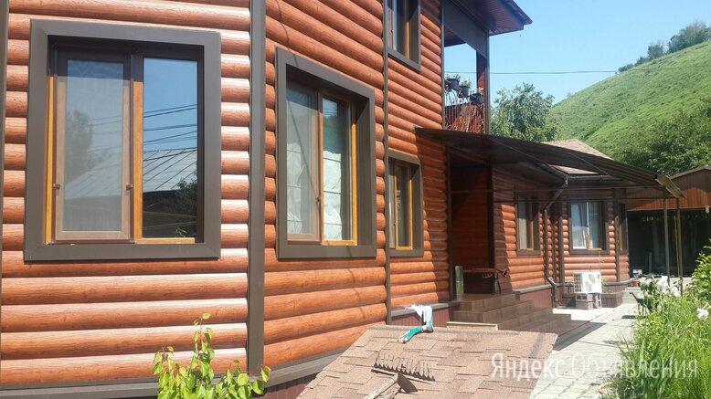 Сайдинг металлический Блок Хаус - Бревно цвет имитация дерева по цене 800₽ - Сайдинг, фото 0