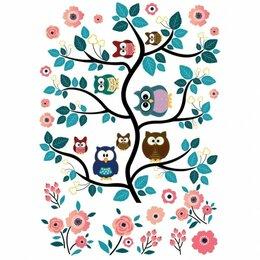 Интерьерные наклейки - Наклейка декоративная Декоретто Дружные совята AL 6001 XXL, 0