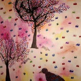 Картины, постеры, гобелены, панно - Рисунок Весна, 0