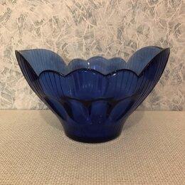 Блюда, салатники и соусники - Ваза салатница цветное синие стекло ссср кобальт, 0