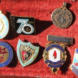 Жетоны, медали и значки - масонские знаки,тяжелый металл,эмали, 0
