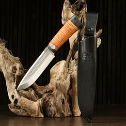 "Ножи и мультитулы - АиР Нож ""Селигер"", рукоять береста, 0"