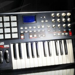 Клавишные инструменты - Midi-клавиатура akai MPK25 // 2395 😎😎😎😎  , 0