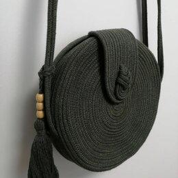 Сумки - Сумка женская из хлопкового шнура, 0