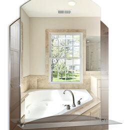 Зеркала - Серебрянные зеркала Зеркало настенное Серебрянные зеркала Арго 495х675 с полкой, 0