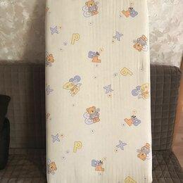 Матрасы и наматрасники - Детский пружинный матрас 120х60х12 см с съёмным чехлом, 0