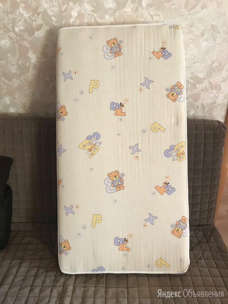Детский пружинный матрас 120х60х12 см с съёмным чехлом по цене 500₽ - Матрасы и наматрасники, фото 0