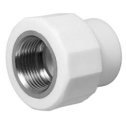 Водопроводные трубы и фитинги - Муфта комбинированная полипропилен 20 мм-1/2 внутренняя резьба, 0
