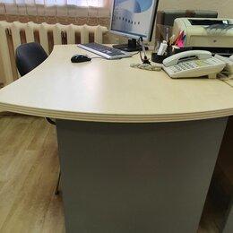 """Мебель для учреждений - Офисный стол эргономический коллекция """"BERLIN Director"""", цвет береза, 0"""