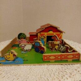 Развивающие игрушки - Деревянная ферма для малышей. , 0