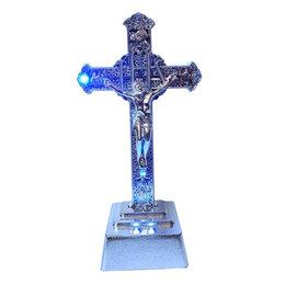 Куклы и пупсы - Сувенир Silver Иисус крест с подсветкой 3546 23см, 0