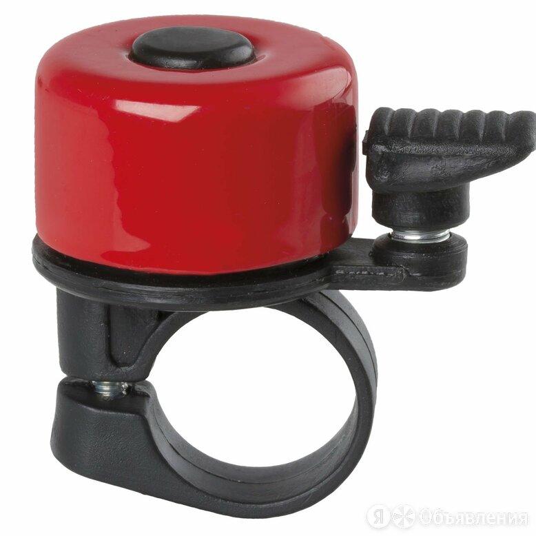 Звонок велосипедный, сталь/пластик, мини D=35мм, красный, 00-170715 по цене 90₽ - Электроустановочные изделия, фото 0