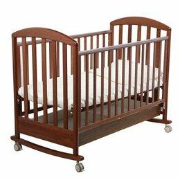 Кроватки - Детская кроватка качалка Papalon Джованни 120x60см + матрас, 0