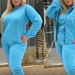 Спортивные костюмы - Женский трикотажный спортивный костюм 3-ка р-ры 46-58, 0