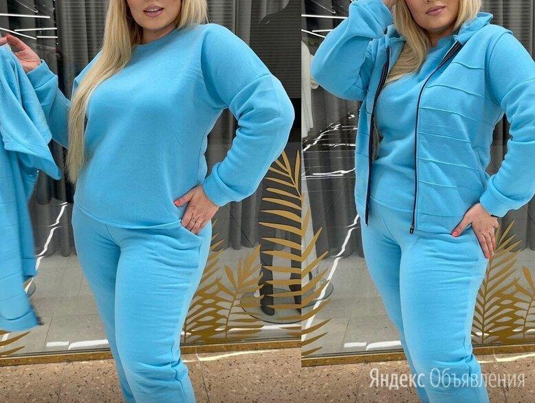 Женский трикотажный спортивный костюм 3-ка р-ры 46-58 по цене 2200₽ - Спортивные костюмы, фото 0