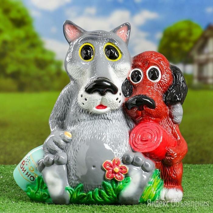 """Садовая фигура """"Волк и пёс"""" №3, 35х35см по цене 880₽ - Садовые фигуры и цветочницы, фото 0"""